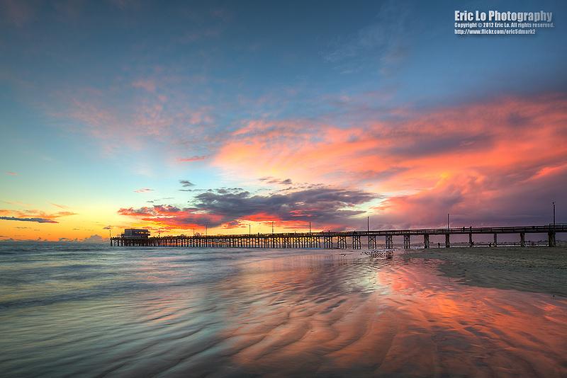 纽波特比奇的日落 Balboa Peninsula, Newport Beach