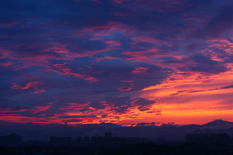杭州西郊的黄昏